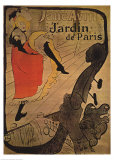 Jane Avril in Jardin de Paris Print by Henri de Toulouse-Lautrec