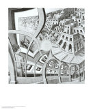 Print Gallery Poster by M. C. Escher
