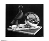 Still Life with Reflecting Sphere Posters af M. C. Escher