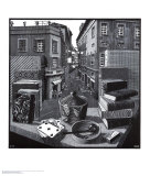 Martwa natura z ulicą Reprodukcje autor M. C. Escher