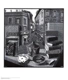 Natureza morta e rua Posters por M. C. Escher