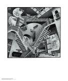 Relativitet Posters af M. C. Escher