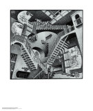 Relatividad Psters por M. C. Escher