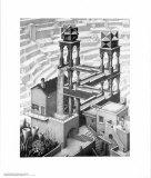 M. C. Escher - Şelale - Poster
