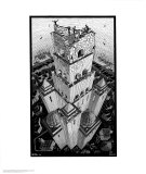 Turm von Babel Kunst von M. C. Escher