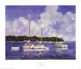 Moored Cat Boats Prints by Ray Ellis