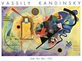 Amarillo, rojo, azul, c.1925 Láminas por Wassily Kandinsky
