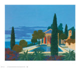 The Mediterranean Villa Posters by Kipp Stewart
