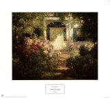 Eingangstür und Garten Poster von Abbott Fuller Graves