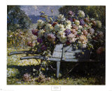 Karre mit Blumen Poster von Abbott Fuller Graves