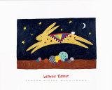 Springendes Kaninchen Poster von Sharon McCullough