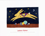 Leaping Rabbit Posters by Sharon McCullough