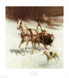 Bridal Sleigh Posters by Jan Van Chelminski