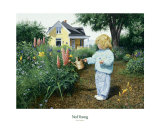 Little Gardener Kunstdruck von Ned Young