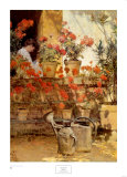 Geraniums Print by Childe Hassam