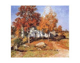 October Prints by Willard Leroy Metcalf