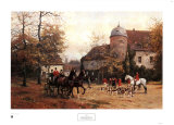 Arriving for the Hunt Print by Georg Karl Koch