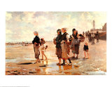 Oyster Gatherers of Cancale, 1878 Reprodukcje autor John Singer Sargent