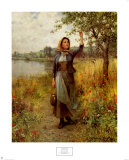 Bretonisches Mädchen Kunstdrucke von Daniel Ridgway Knight