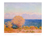 View of Bay at Antibes and the Marit Posters by Claude Monet