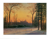 View of Parliament Buildings from Poster by Albert Bierstadt