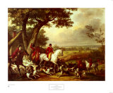 Caza en el parque de Fountainbleau Póster por Carle Vernet