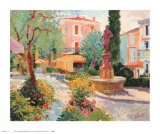 Place Mougins, 1989 Prints by Paul Riley