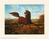 Wiehern eines eisernen Pferdes Poster von A. Tapy