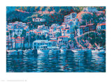 Harbor Reflections Poster by John Cosby