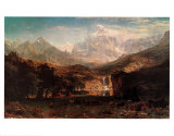 Rocky Mountains Posters por Albert Bierstadt