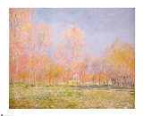 Spring in Giverny, 1890 Prints by Claude Monet
