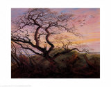 Tree with Crows Poster van Caspar David Friedrich