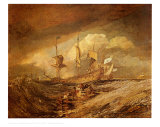 Boats with Anchors Plakater af William Turner