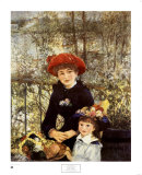 On the Terrace, 1881 Prints by Pierre-Auguste Renoir