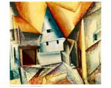 Upper Weimar Planscher av Lyonel Feininger