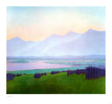 Mountain Twilight, 1981 Prints by Vilnis Strazdins