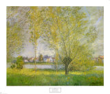 Saules pleureurs &#224; Vetheuil Posters par Claude Monet