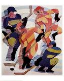 Hockey-spelare Affischer av Ernst Ludwig Kirchner