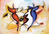 Dansende engle Kunst af Alfred Gockel
