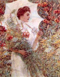 White Parasol Poster by Robert Payton Reid