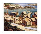 Peaceful Harbor Print by Henry Gasser