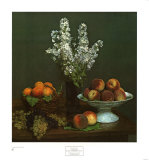 Bouquet de julienne et fruits Affiches par Henri Fantin-Latour
