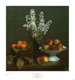 Bouquet De Julienne Et Fruits Kunstdrucke von Henri Fantin-Latour