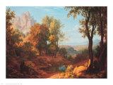 Mittag, 1829 Poster von Johann Martin Von Rohden