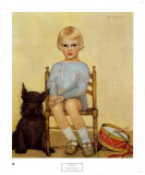 Boy with Dog, 1933 Poster by Maria Dekammerer