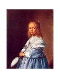Kleines Mädchen in Blau Poster von Jan Cornelisz Verspronck