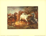 Fighting Horses Poster by Th&#233;odore G&#233;ricault