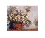 Chrysanthemums Posters by Claude Monet