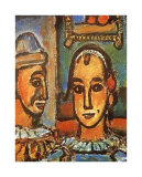 Heads of Two Clowns Poster by Georges Rouault
