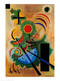 Solid Green Prints by Wassily Kandinsky